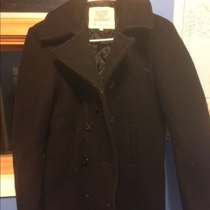 Other - Black wool military pea coat